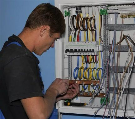 Описание электропроводки в квартире