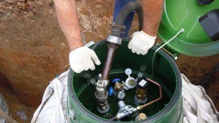 Процесс опрессовки резервуара