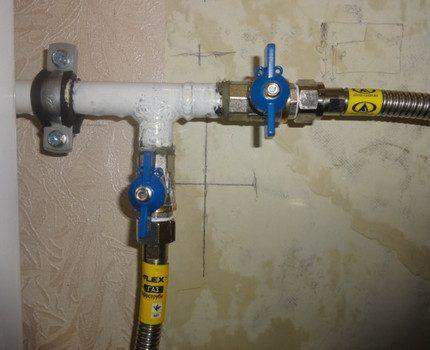 Прямое подключение газовых труб