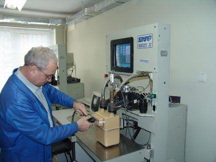 Проверка счетчика в лаборатории