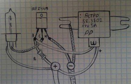 Простая схема контроллера