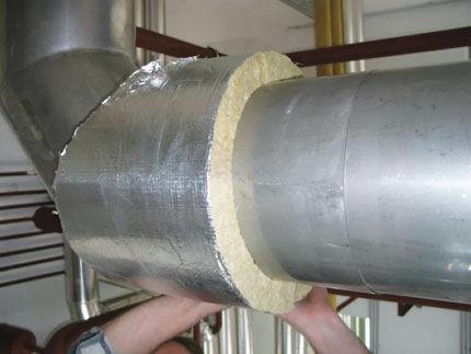 Минеральная вата для воздуховода