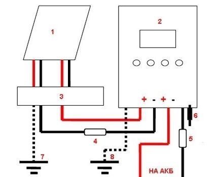 Схема подключения MPPT