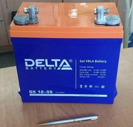 Гелевый аккумулятор Дельта