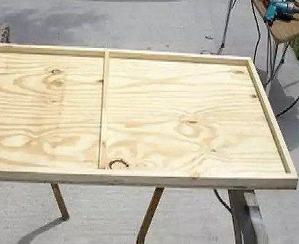 Деревянный каркас для фотоэлемента