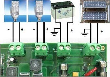 Соответствие подключений контроллера