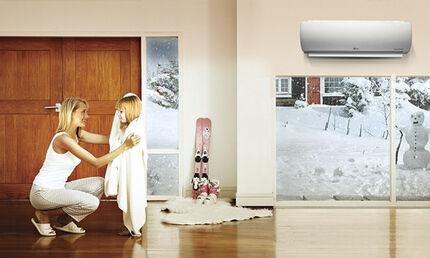 Работа сплит-системы на тепло