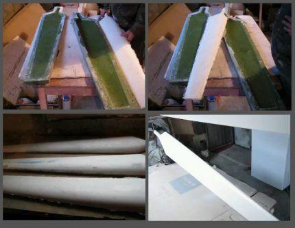 Изготовление лопасти из стекловолокна
