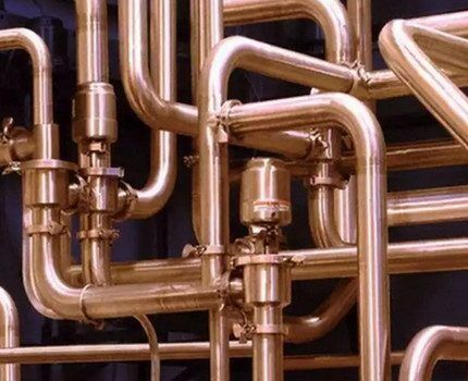 Система отопления из медных труб