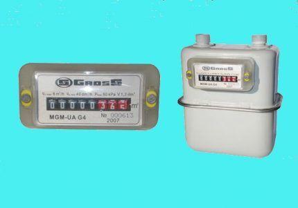 Различные виды газовых счетчиков