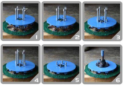 Процесс сборки генератора