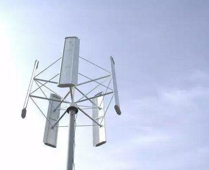 Ветрогенератор с ортогональным ротором