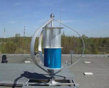 Ветрогенератор с ротором Савониуса