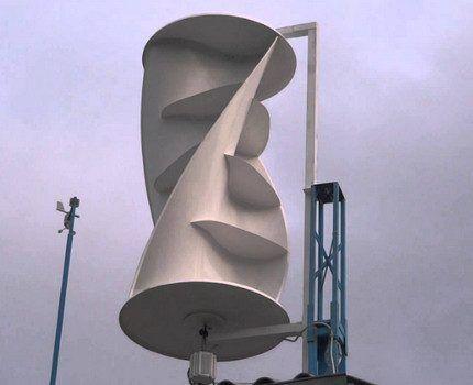 Генератор с вертикально-осевым ротором