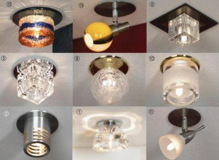 Ceiling light sources