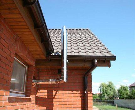 Вывод вентиляции через стену дворового фасада
