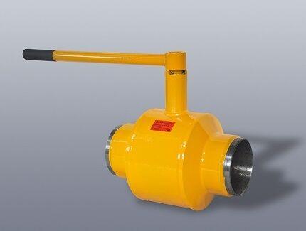 Приварной газовый кран шарового типа