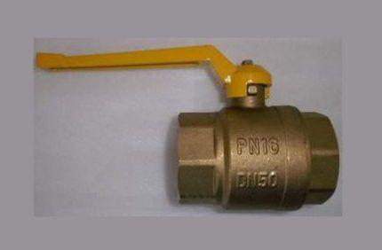 Латунный газовый кран