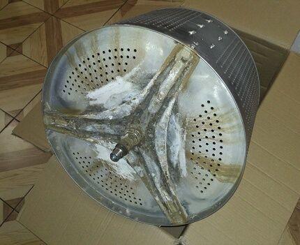 Осадок на барабане стиральной машинки