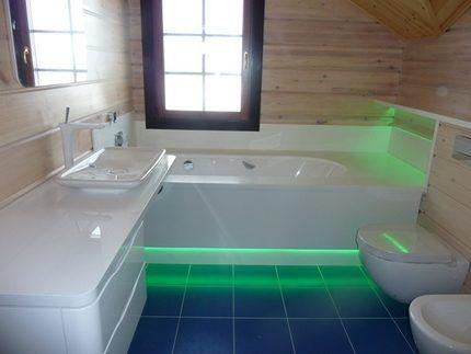 Подсветка ванны