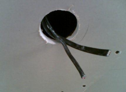 Монтажное отверстие для установки точечного светильника