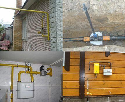 Способы подключения газопровода