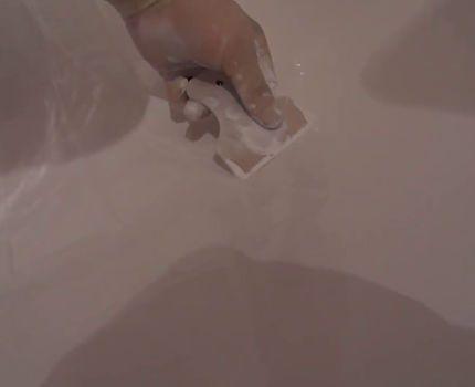 Выравнивание дна наливной ванны