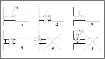 Схема соединений в однотрубной системе