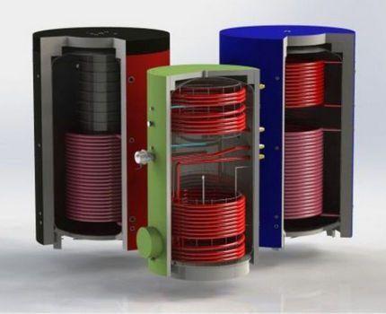 Теплоаккумуляторы разных видов