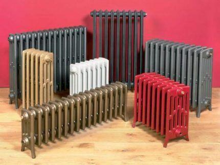 Различные виды радиаторов