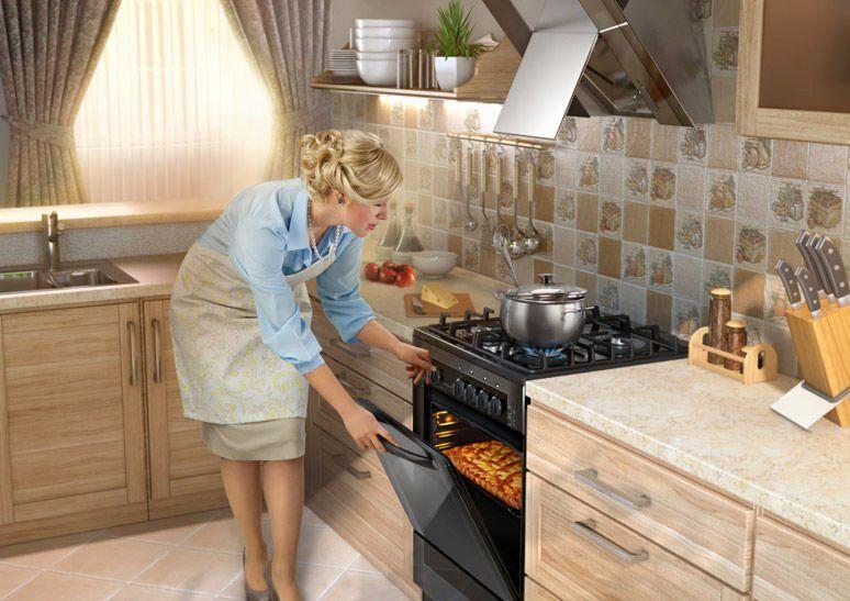 Дизайн кухни с черной плитой