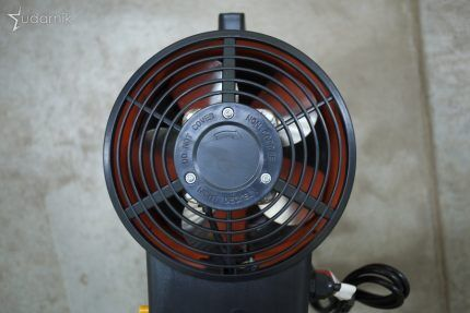 Fan for heat gun