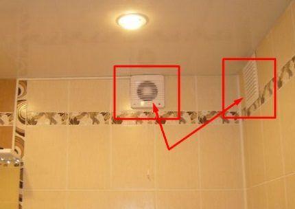 Вытяжки в ванной и на кухне