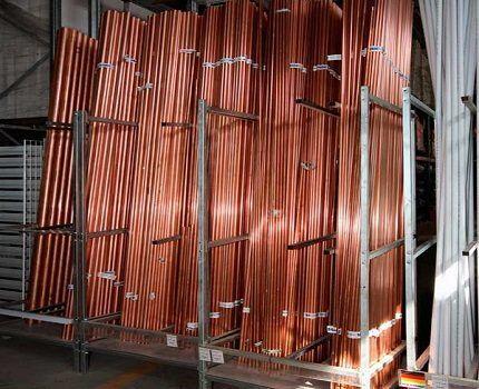 Металлические трубки для системы остывания