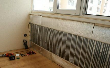 Инфракрасные нагреватели на стене