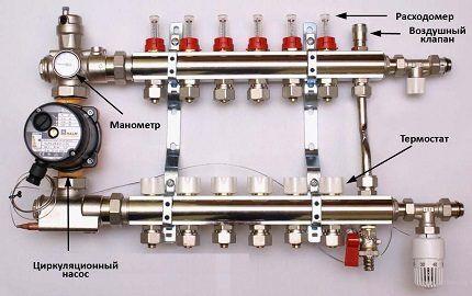 Коллекторная система отопления (лучевая)