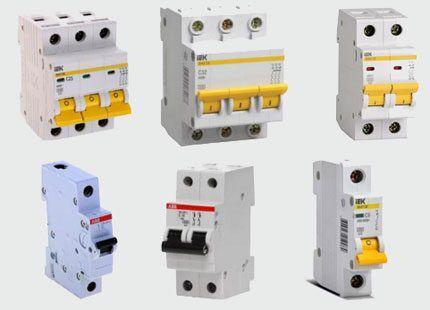 Автоматические выключатели разные