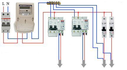 Схема подключения дифавтоматов без заземления