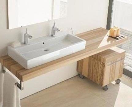 Дизайнерская столешница в ванную