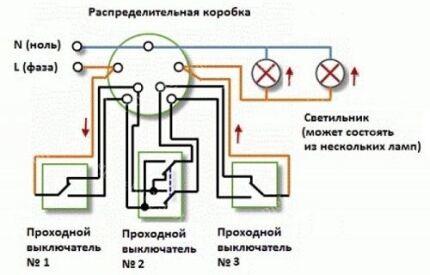 Схема ДПВ с тремя точками контроля