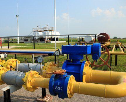 Место объедения двух веток газопровода