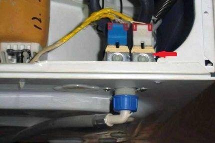Место установки водного клапана
