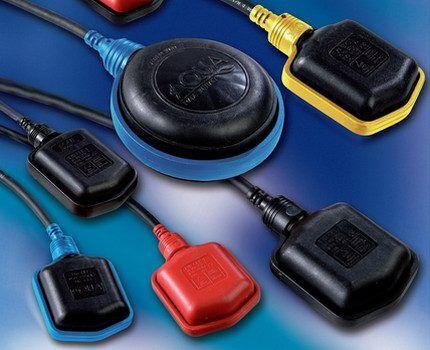 Поплавковые выключатели разных размеров