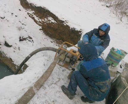 Откачивание жидкости из резервуара