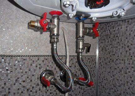 Подключение гибких подводок