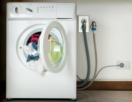 Washing machine connection