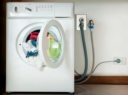Отключение стиральной машинки перед ремонтом