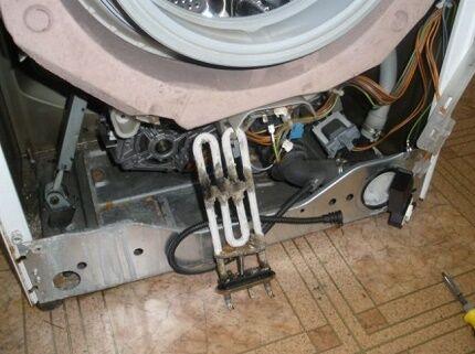Демонтаж ТЭНа стиральной машины