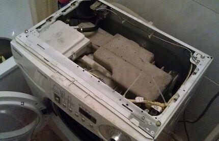 Демонтаж верхней панели стиралки