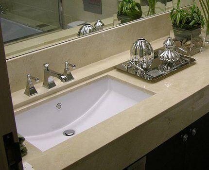 Роскошная столешница для ванной